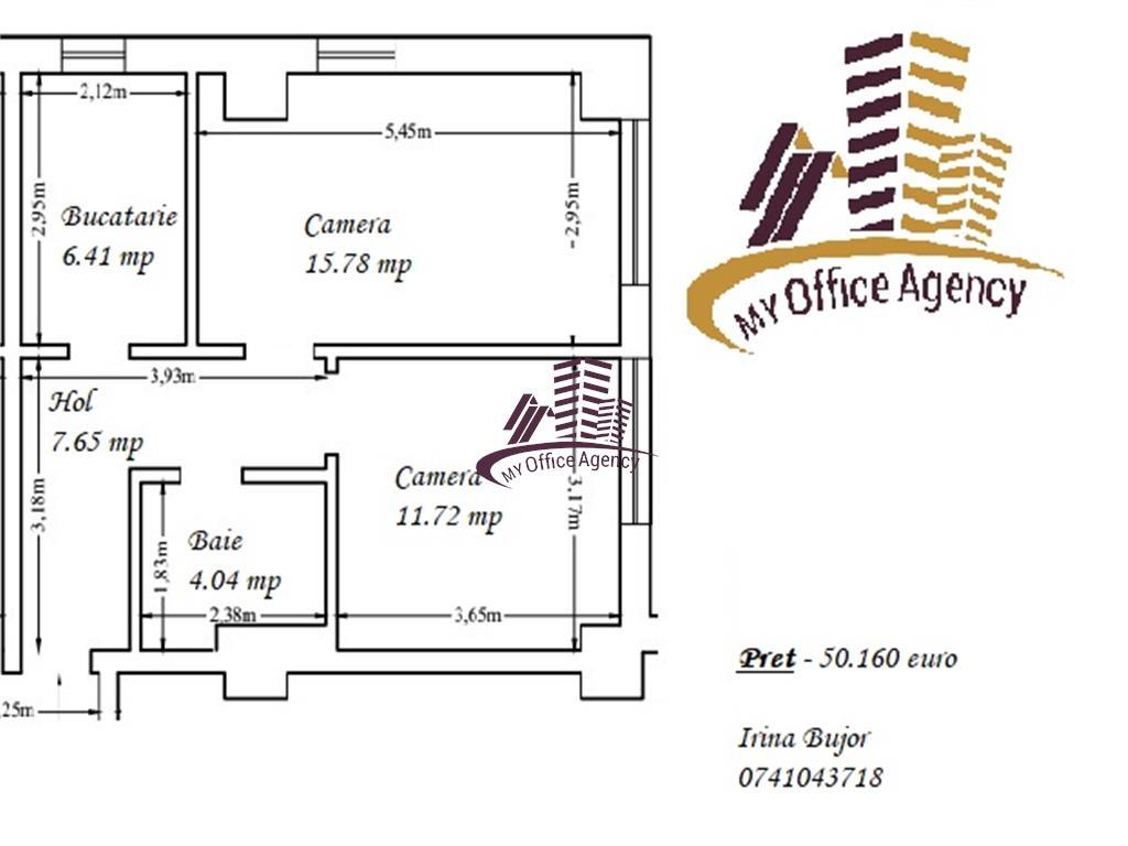 Apartament doua camere decomandat in Copou