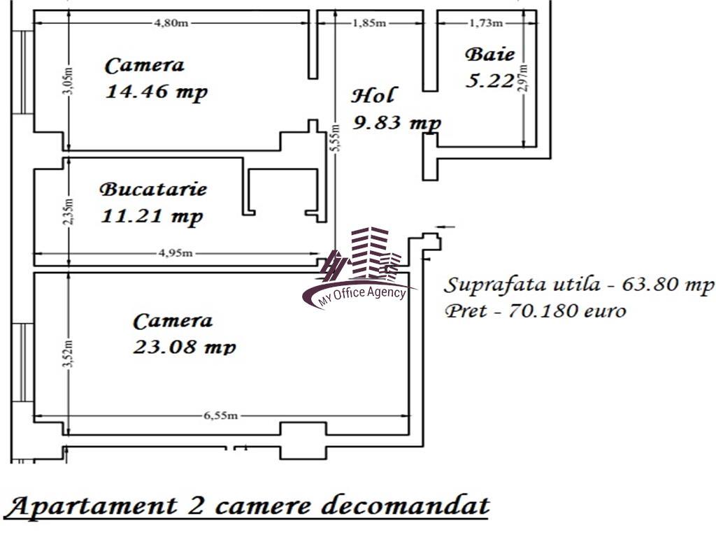Apartament cu 2 camere de vanzare Copou  Rond Agronomie