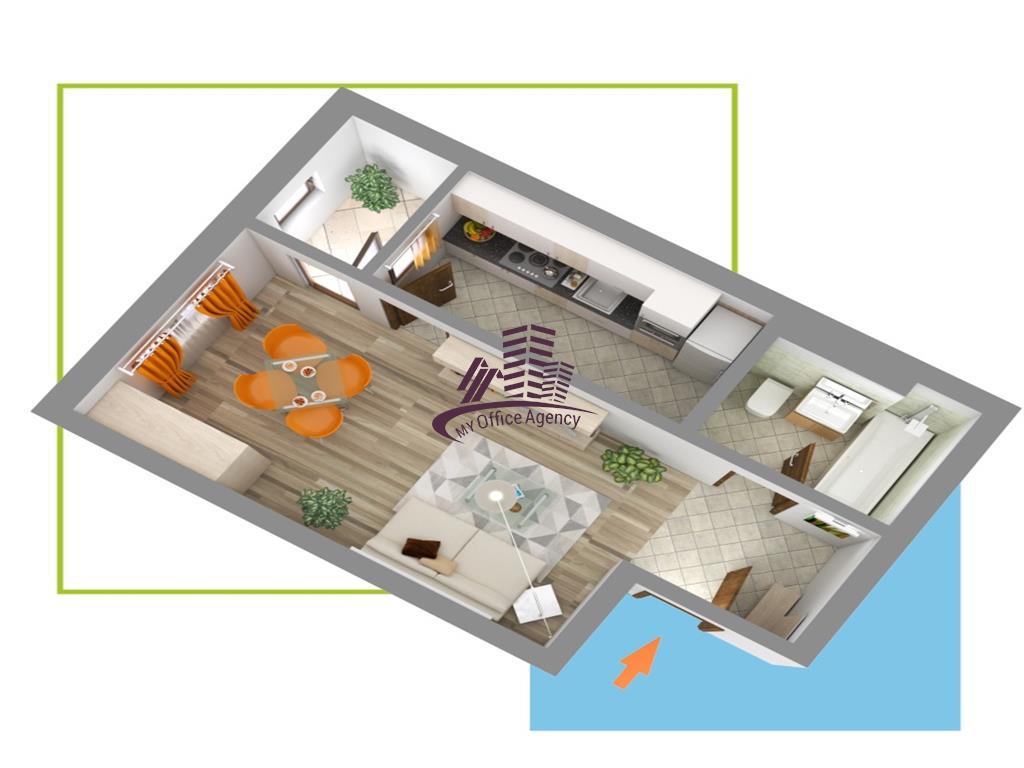 Apartament de vanzare cu o camera Nicolina