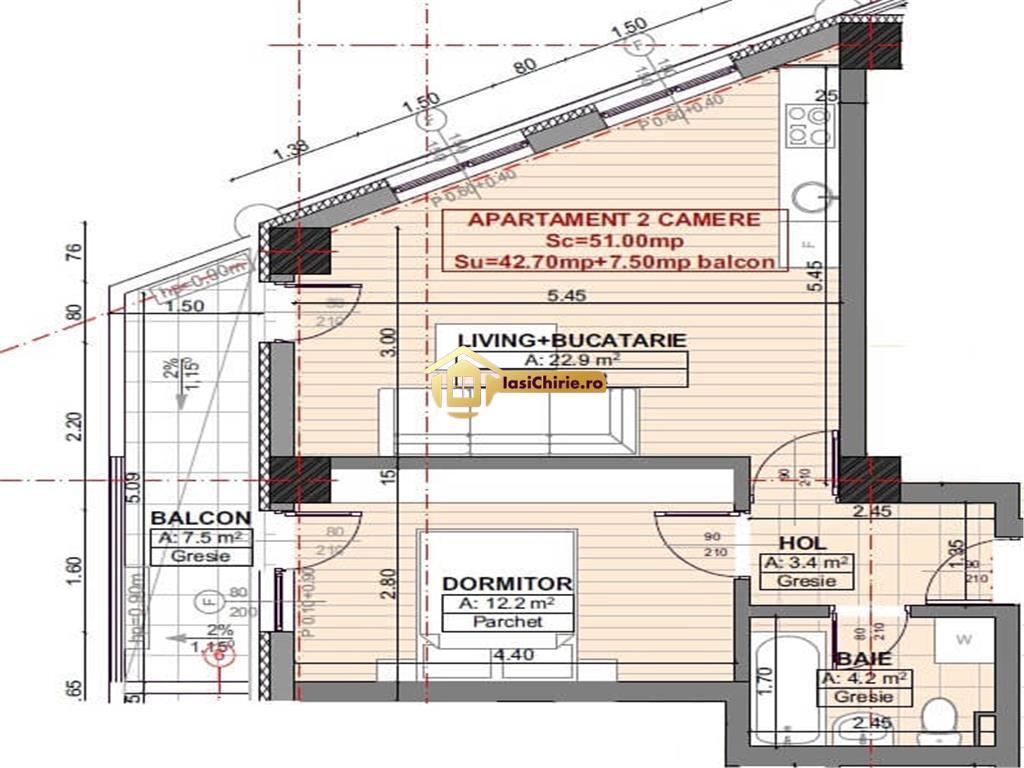 Moara de Vant, apartament 2 camere decomandat, finisaje lux